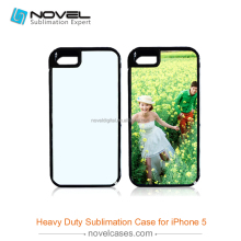 Durable 2in1 PVC+TPU phone case for iPhone5