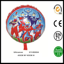 "Wholesale Inflatable 18"" Round Shaped Ultraman Helium Foil Balloon,Ultraman Foil Balloon"