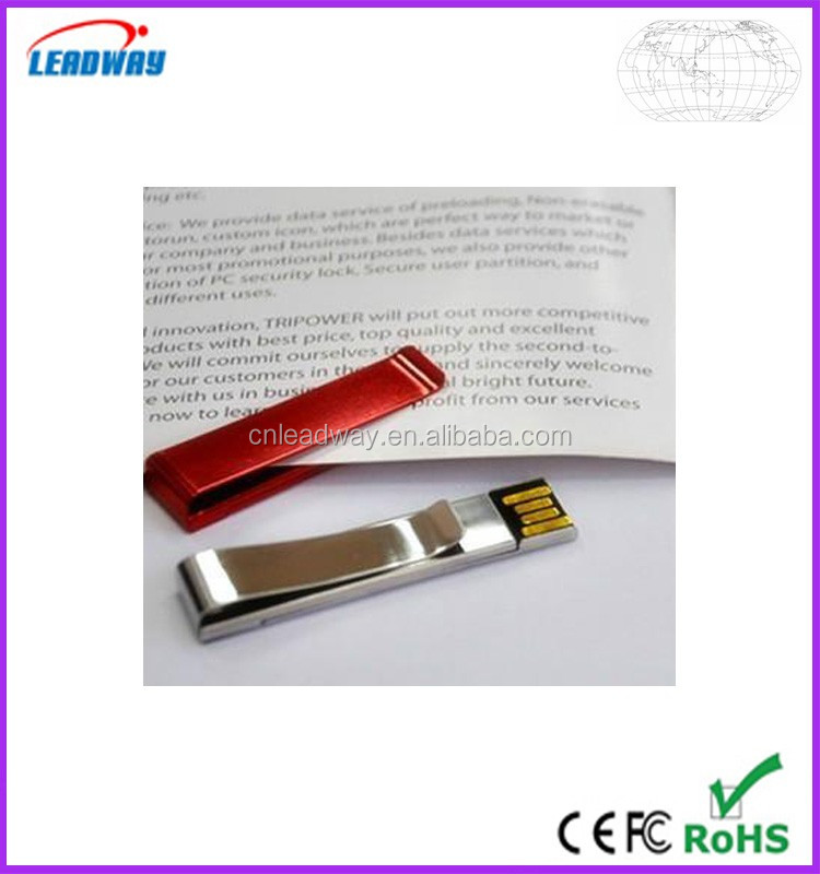 2017 new metal clip bulk 2gb usb flash drives factory lowest price