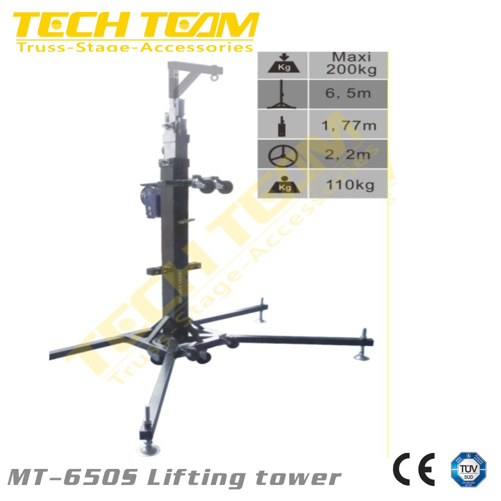 folding truss lift tower for sound,Heavy Duty Truss Lifting Tower MT-650S, truss stand