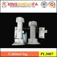 White colour Plastic kitchen cabinets adjustable feet legs