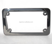 China auto parts manufacturer custom chrome car license plate frame