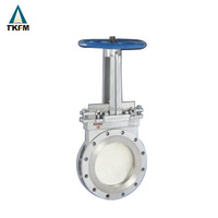 Best selling 6 inch 900 awwa a c509 chain wheel double disc di knife gate valve