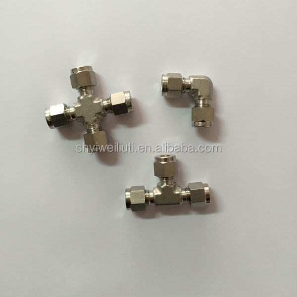 Stainless Steel Male Run Tee Tube Fittings