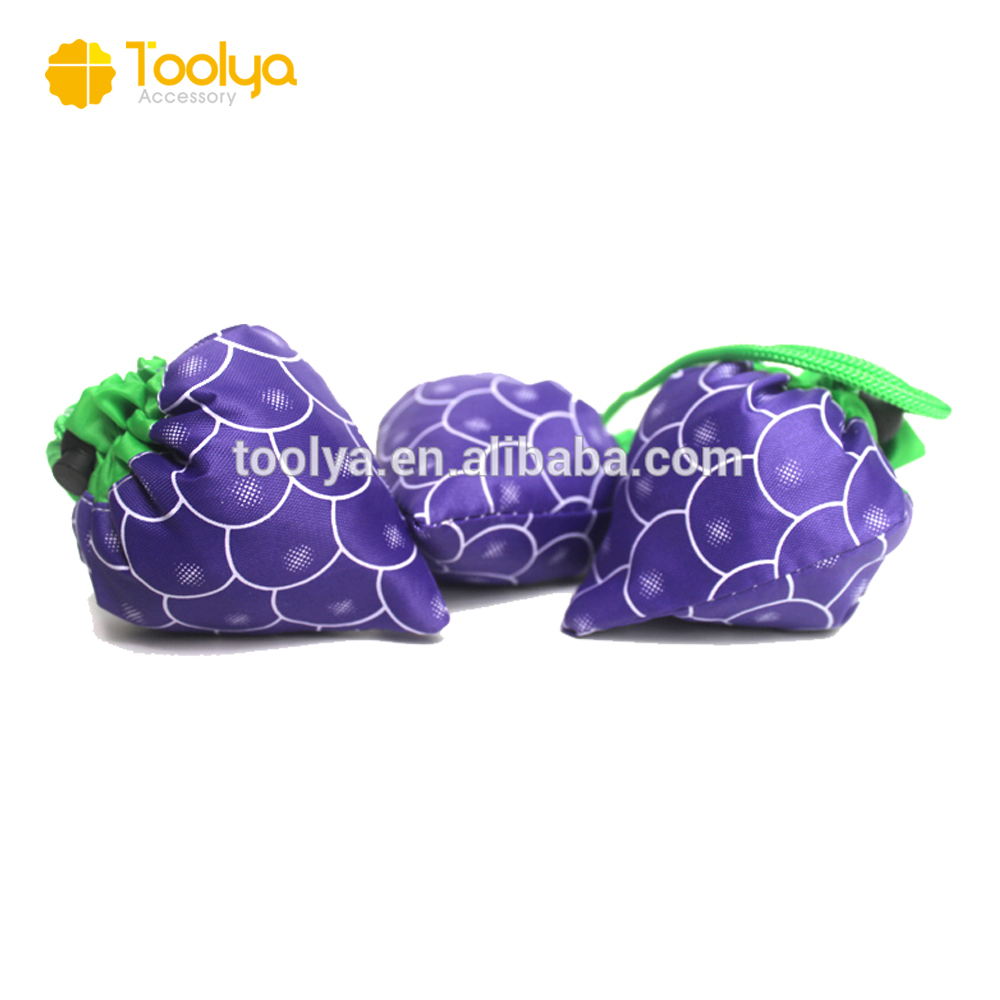Hot new Grape Foldable Shopping Bags Fruit Folded Reusable Bag Useful Gift Bags