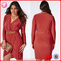 2015 Fashion Plus Size Clothing For Fat Women Dress