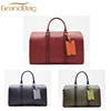 new arrival genuine leather travel luggage bag men duffle bag