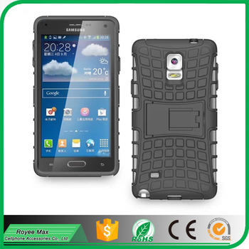 beauty tire tread design mobile phone shockproof hybrid armor case for samsung Galaxy Note4 cover alibaba trade assuarance