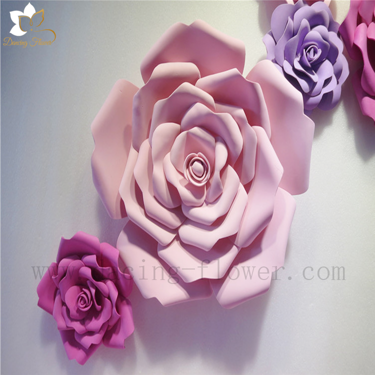 Beautiful handmade artificial paper flowers backdrops for wedding