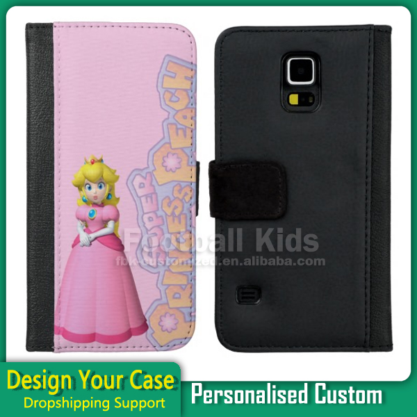 Factory supply customized colorful wallet flip leather case cell phone case for Samsung galaxy s5