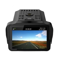 Dashboard Cam With DVR Recorder,Radar Detector,GPS Track Recorder 3 In 1 Full HD 1080P 2.7 LCD Car DVR Support Russian Voice