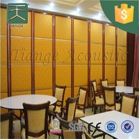 Interior sliding doors foldable soundproof partition wall