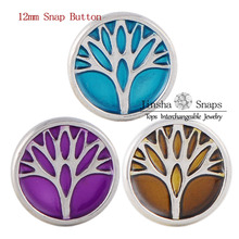 Wholesale Tree Snap Button Jewelry