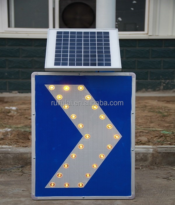 High quality road construction safety equipment outdoor solar traffic sign