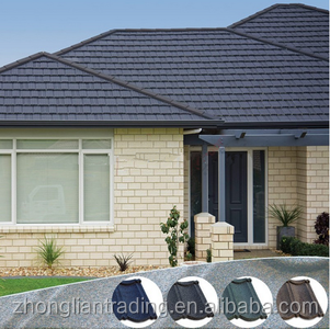 High quality aluminum zinc plate colorful stone coated metal roofing tile, China stone coated steel roofing shingles