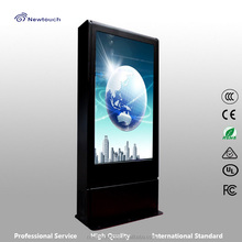 outdoor display for advertising optional with touchscreen