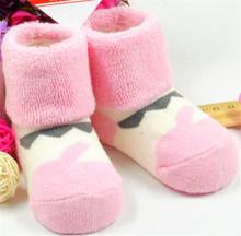 BST-79 Pink Terry Warmer Toddler Socks Cotton Material for Baby for Wholesale