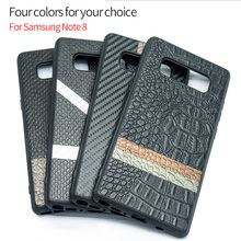 Wholesale factory OEM cover case for samsung galaxy note 8 for samsung note 8 PU Leather Fashion Creative Back case