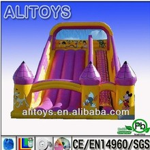 so beautiful queen castle giant cheap inflatable super slide for sale