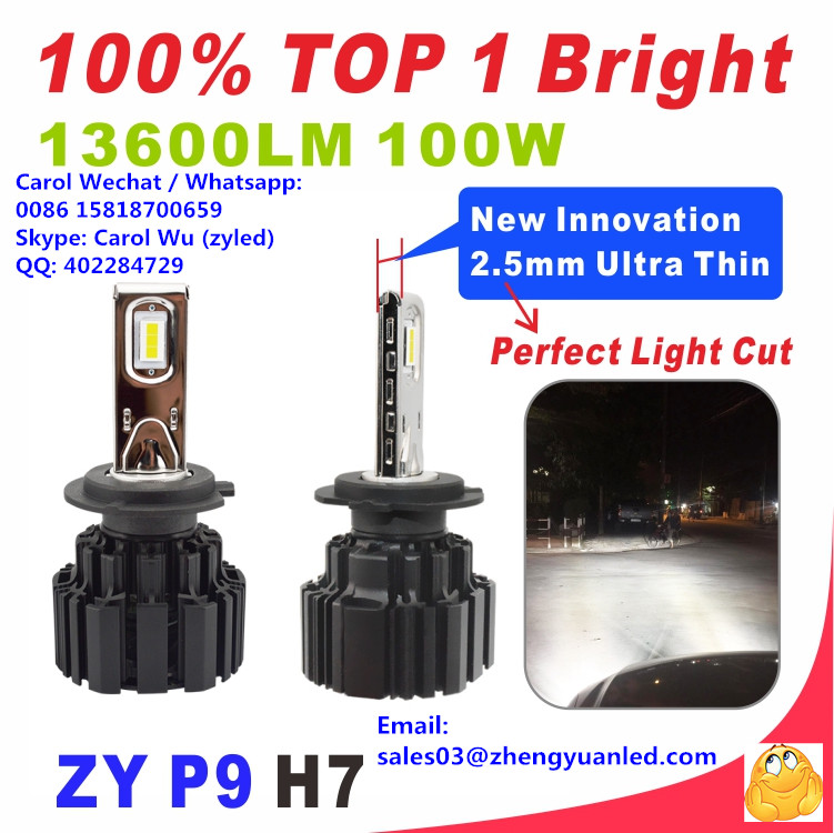WOW TOP 1 Bright 100W P9 h11 2018 pk 16000lm h7 Osram led bulb car light h4 headlight h1 hid h4 bulb 10000lm canbus led fog lamp