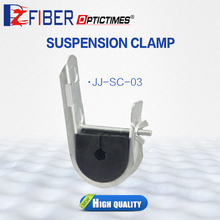 Adjustable Optical Fiber Drop Pole Wire Cable ADSS Suspension Bridge Cable Clamp