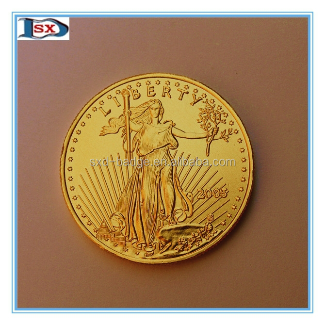 1oz/33.93g imitation art and collectible gold coin,replica American gold double eagle replica coin of us from China