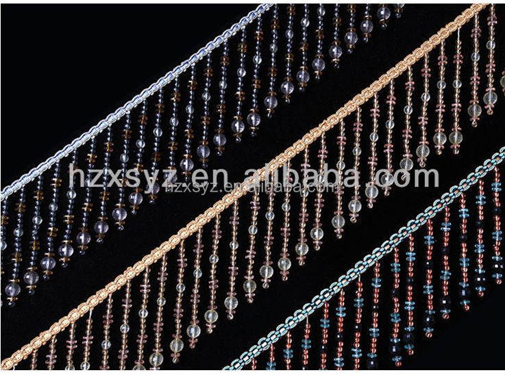 2017 tassel bead fringe for Lampshade decorative