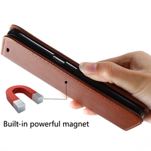 Stealth magnet flip pu wallet case for samsung GALAXY S8 G9500 Invisible magnet Card Slot leather case for samsung S8