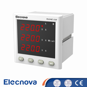 PD194E-2S9 3 phase ac digital led display watt hour meter with relay output