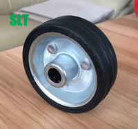 zinc plated caster wheel 3 inch rubber wheel 4 inch galvanized industrial caster