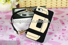 2013 Luxury High Quality Nice Fashionable Silicon Case Handbag Case for iphone 5 5G