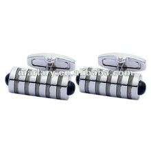 Wholesale Silver Cylindrical 316L Stainless Steel Long Sleeves Shirts Cufflinks Findings