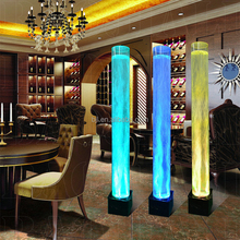 home decoration columns,color light water bubble column,led lighting round column