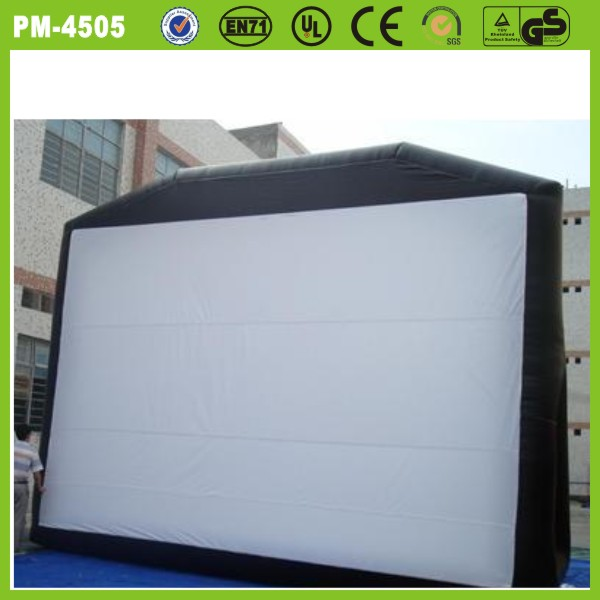 Customized advertising top quality inflatable rear projection screen