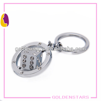 2013 hot selling novelty die rotating key chain for promotions
