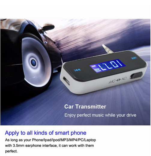 GXYKIT car kit Bluetooth mp3 player with fm transmitter for phone