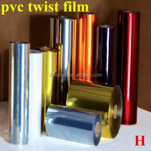 factory price of pvc twist film/transparent pvc film in roll /pvc plastic film for food wrap