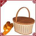 S&D Factory directly pe rattan hanging picnic basket for fruit storage