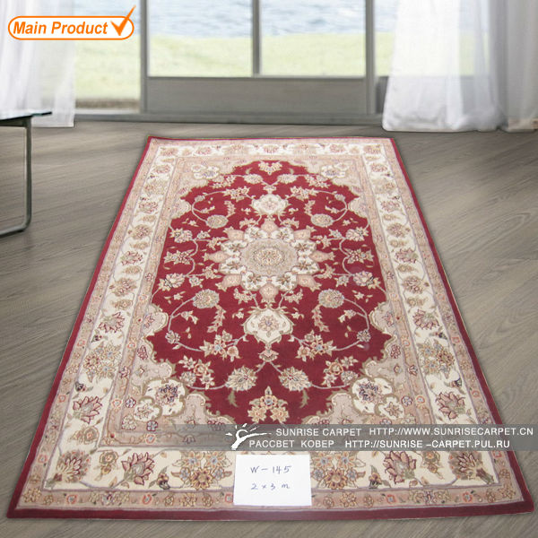classical hand knotted wool silk rugs