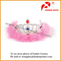 Feather Princess Crown For Girls