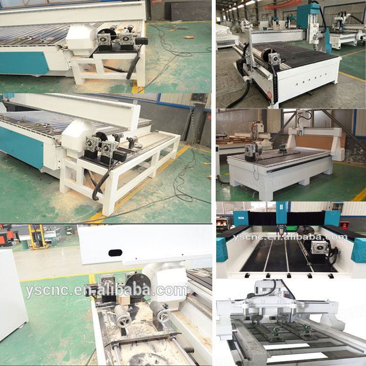 Low cost cnc lathe machine multicam cnc router for wood 3d cnc wood carving machine with rotary axis used woodworking machine