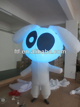 LED lighting display advertising inflatable walking cartoon