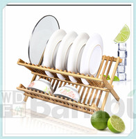New Product for 2015 Moso Bamboo Folding Dish Rack/Drainer