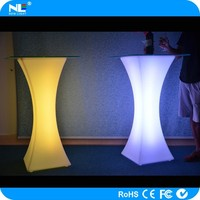 Alibaba express color changing magic LED glass and plastic cocktail light table
