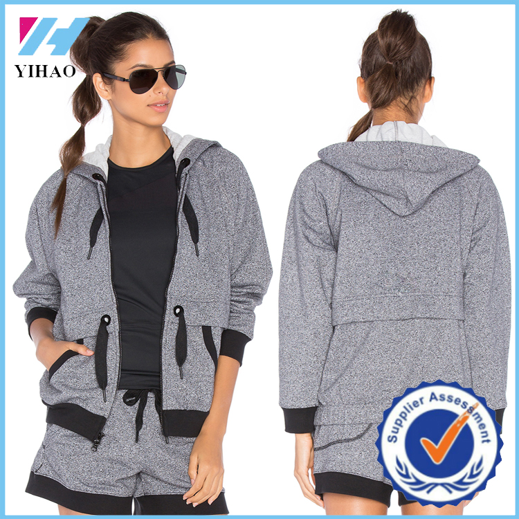 yihao2016 latest custom stringer hoodie OEM clothing wholesale cat hoodies jackets manufacturing factory of china