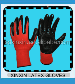 safety industrial different colors rubber coated work durable glove work