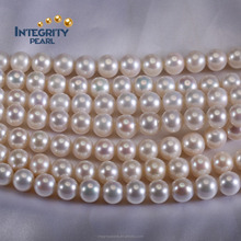 Cultured freshwater pearl strand 9mm AAA perfect round decoration pearl strand