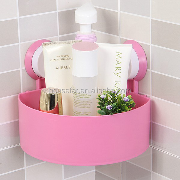 cheap telescopic bathroom suction cup corner shelf