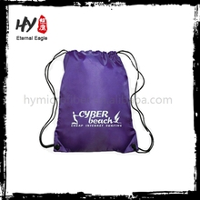 Fashion style recyclable non woven drawstring bag with low price