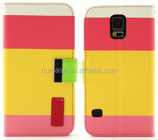 Wholesale Rainbow Design High Quality Leather For Case Samsung Galaxy Note 3 N900 Wallet Flip Cover Pouch Bag